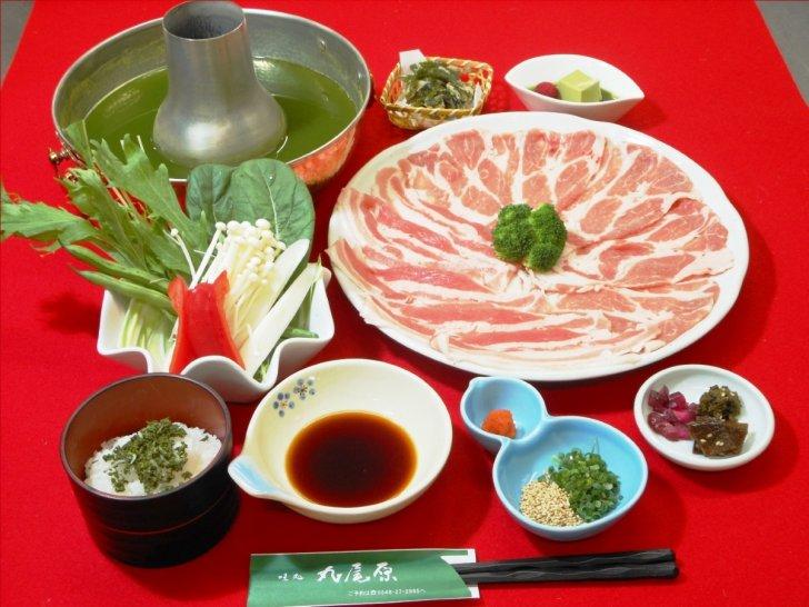 遠州黒豚肉のお茶しゃぶ