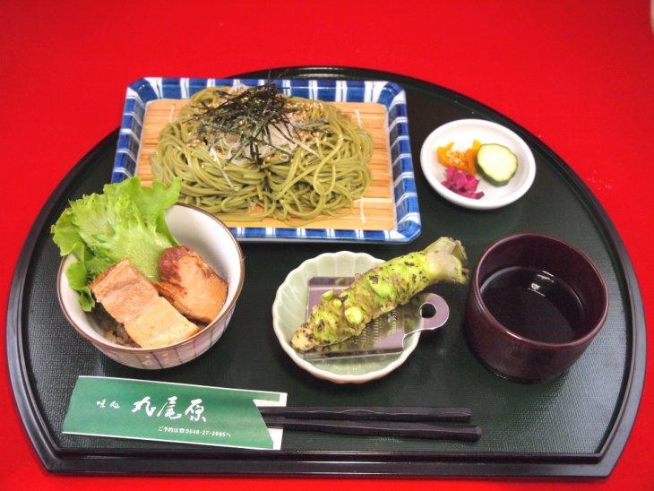 ざる蕎麦(ミニ豚角煮丼付き)1380円-s